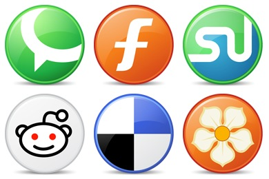 Free Iconset: Circle Social Bookmark Icons by Fast Icon Design