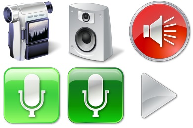 Free Iconset: Vista Multimedia Icons by Icons-Land