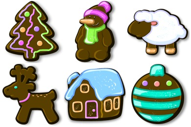 Free Iconset: Xmas Gingerbread Icons by Flameia Design