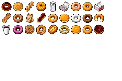 Free Icons: Iconset: Hide's Donuts Icons by Pixture | Food
