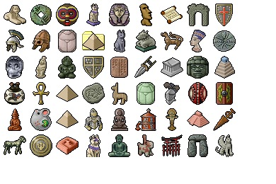 Free Icons: Iconset: Archaeologicons Icons by Zapato | Travel