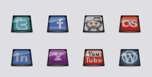 Free OLED Social Icons