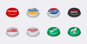 Free Icons: Soda Pop Caps | Andrea Austoni