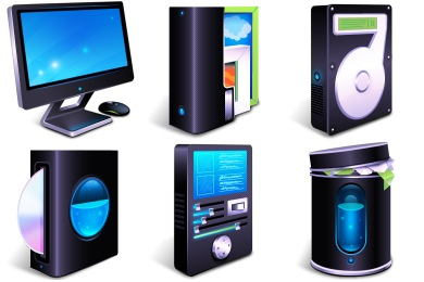 Free Iconset: 3D BlueFX Desktop Icons by WallpaperFX