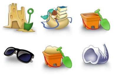 Free Iconset: Beach Icons by Proycontec