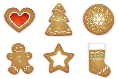 Free Iconset: Christmas Cookies Icons by Brainleaf