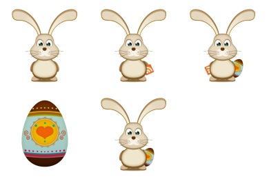 Iconset: Easter Bunny Egg Icons by ilovecolors