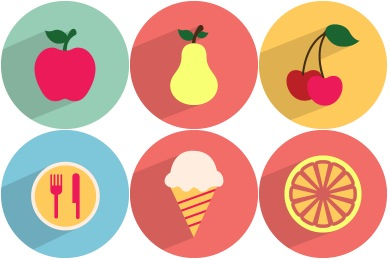 Iconset: Food & Drinks Icons by GraphicLoads