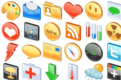Free Iconset: Free 3D Glossy Icons by Aha-Soft