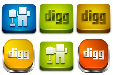 Free Iconset: Power Up Your Digg Icons by Artbees