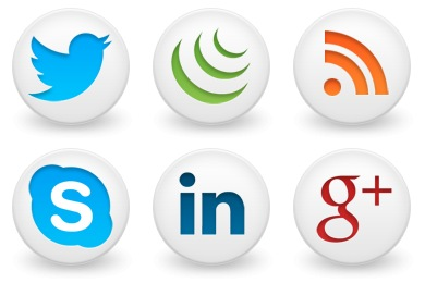 Free Iconset: Round Social Icons by Brainleaf