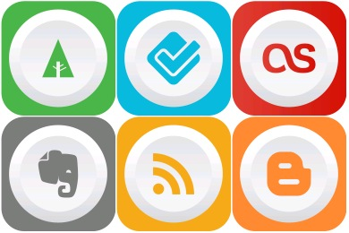 Free Iconset: Rounded Flat Social Icons by GraphicLoads