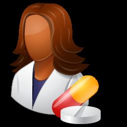 Free Icons: Medical Pharmacist Female Dark Icon | Business | Icons ...