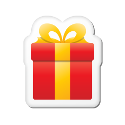Free Icons: Xmas sticker gift Icon | Holidays | Double-J ...