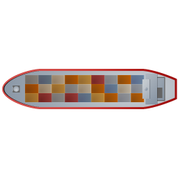 Download Vector Container Ship Top Red Icon Vectorpicker
