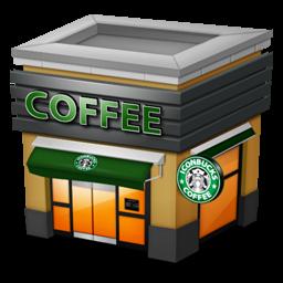 Shop Coffee brown Icon