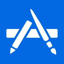 download app store icon vector