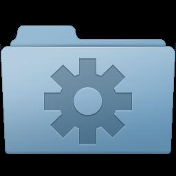 Setting Folder Blue Icon