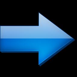 Fleche droite bleue Icon
