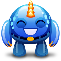 Download Vector Blue Monster Happy Icon Vectorpicker