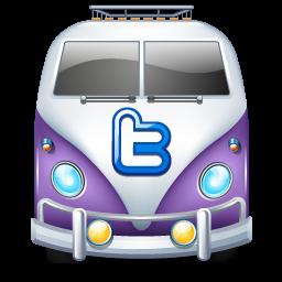 Download Vector Twitter Bus Purple Icon Vectorpicker