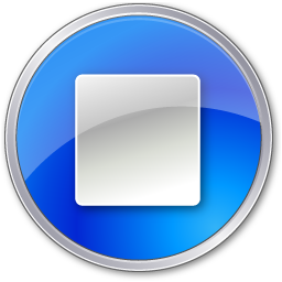 Download Vector Stop Normal Blue Icon Vectorpicker