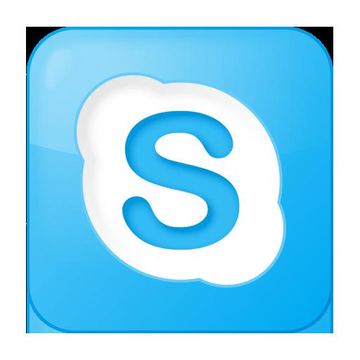 Free social_skype_box_blue