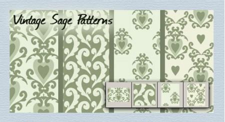 Free Vintage Sage patterns