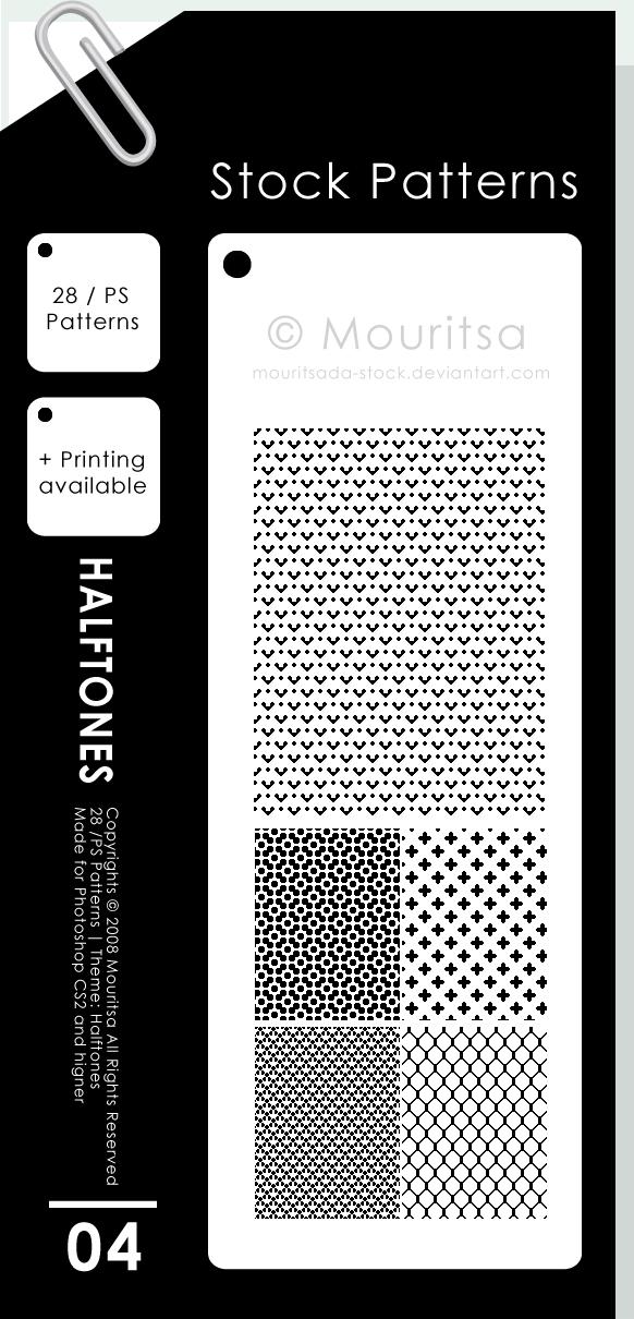Free Patterns: Halftones | Marielle P. Kokosidou