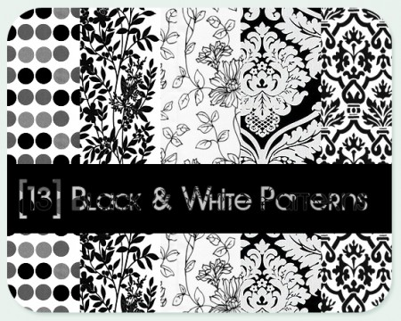 Free Black - White patterns