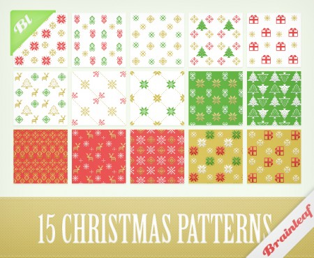 Free Christmas Pixel Patterns
