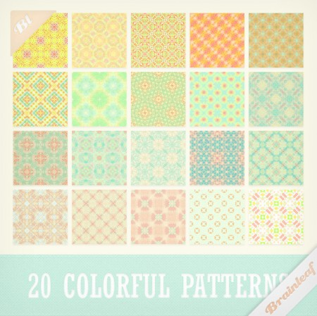 Free Sweet Colorful Patterns Set