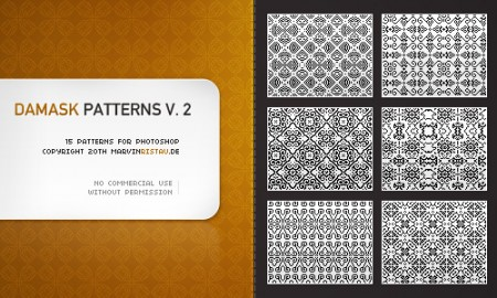 Free Damask Patterns Volume 2
