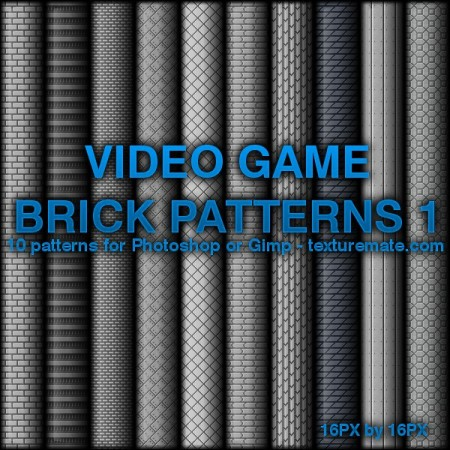 Free Video Game Brick Patterns 1