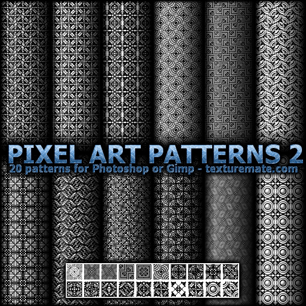 Free Patterns: Pixel Art Patterns 2 | AscendedArts