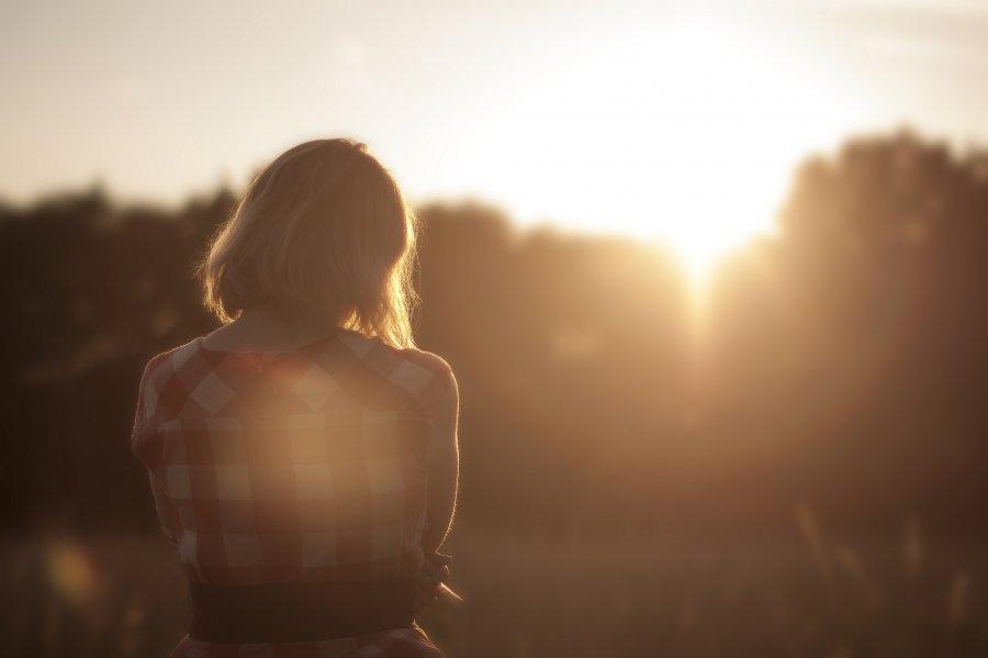 Free Photos: Girl looking at sunset | Nature | Sunset Girl