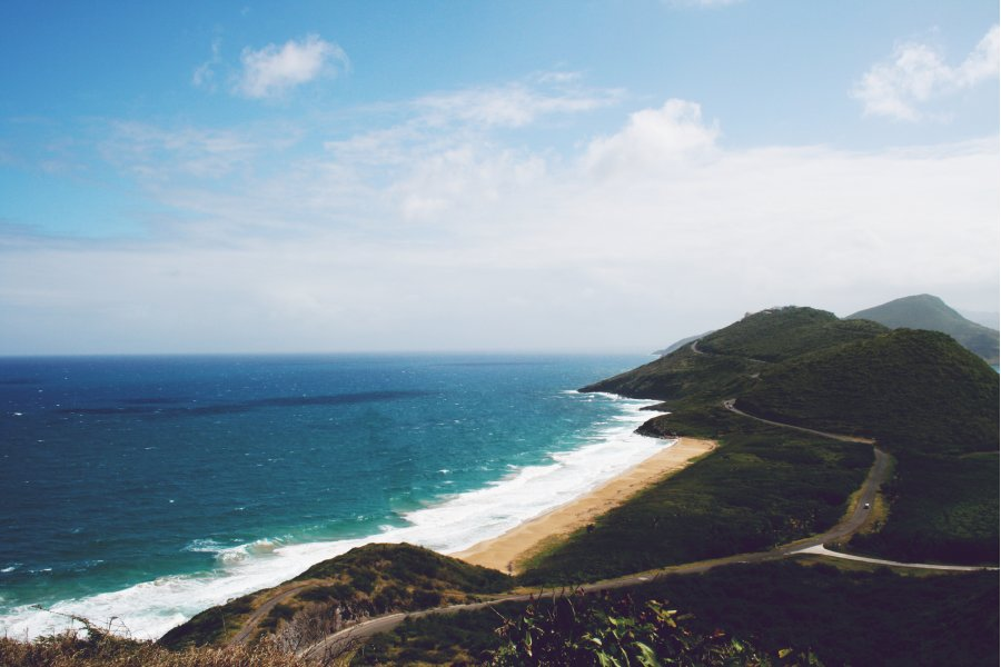Free Photos: Landscape with sea and green hills | Nature | Ma. Alejandra G