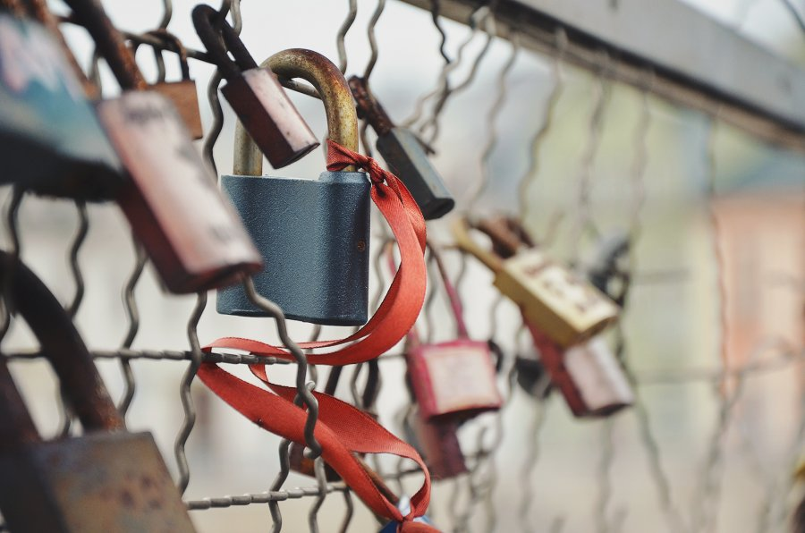 Free Photos: Padlocks attached to a metal grid | Objects | Sylwia Bartyzel