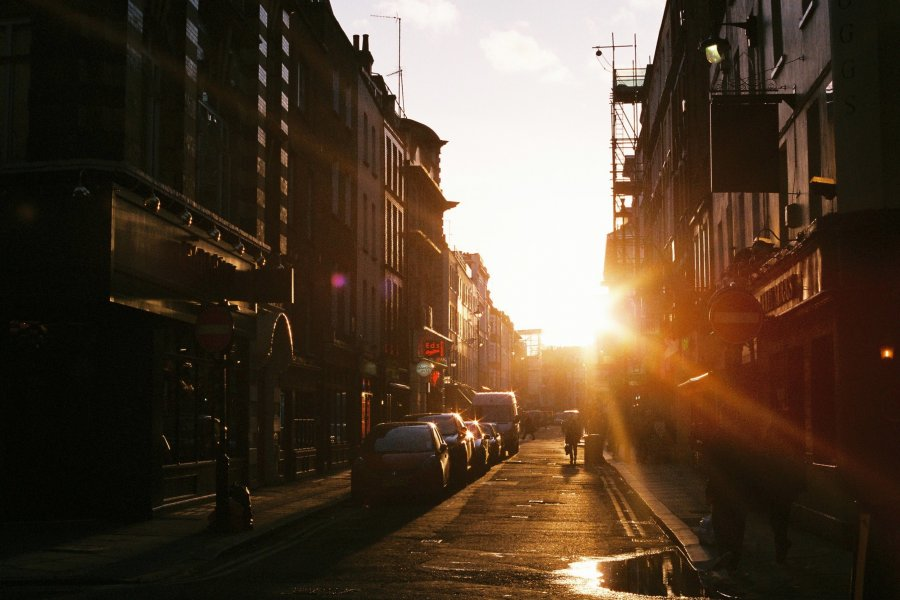 Free Photos: Sunset on a city street   People   Danka Peter