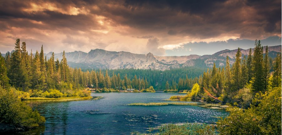 Free Photos: Mountain landscape with lake and forest | Backgrounds | Wolfgang Moritzer