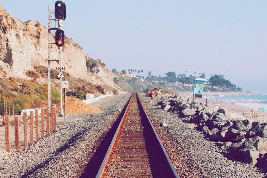 Free Photos: Railroad near the beach | Art | Chris Sardegna