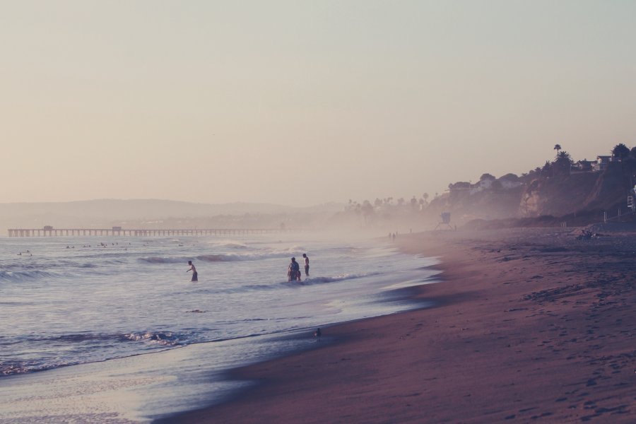 Free Photos: People entering into the ocean near a beach | Nature | Chris Sardegna