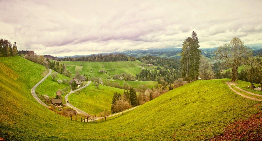 Free Photos: Landscape with green hills | Nature | Simon Waelti