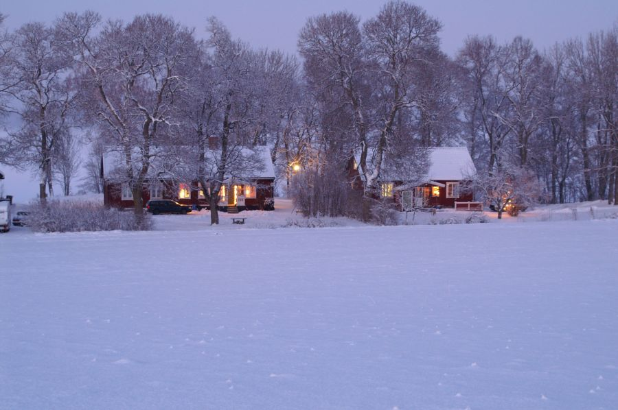 House covered by snow during winter time