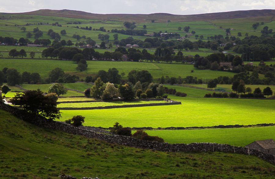 Yorkshire dales countryside in England
