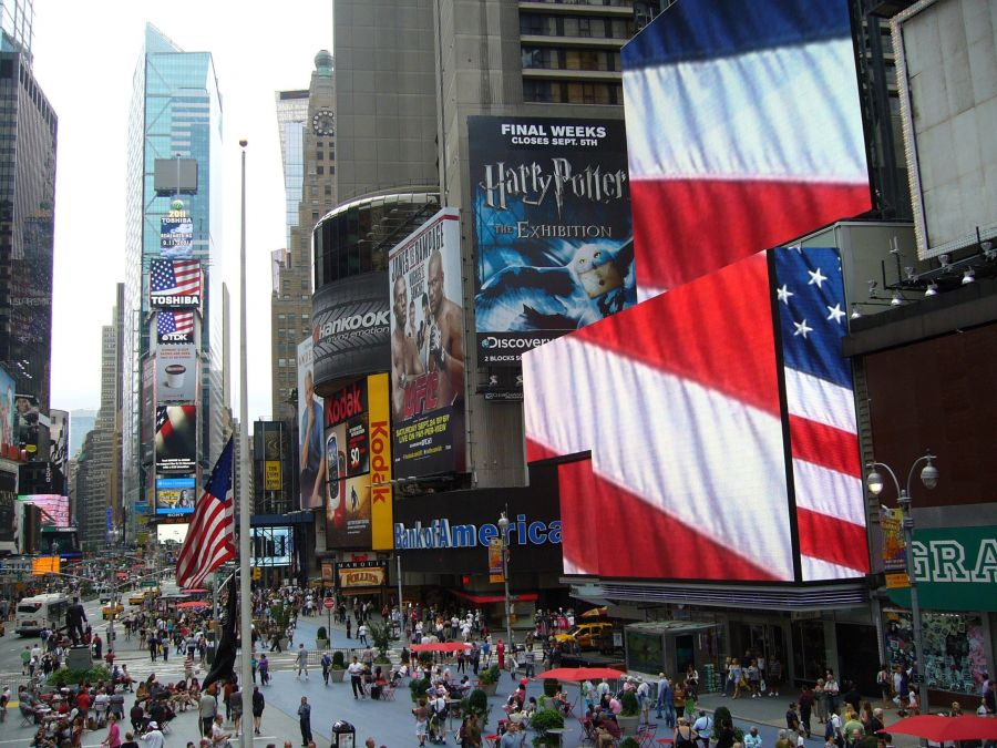Broadway Show Billboards in Times Square New York