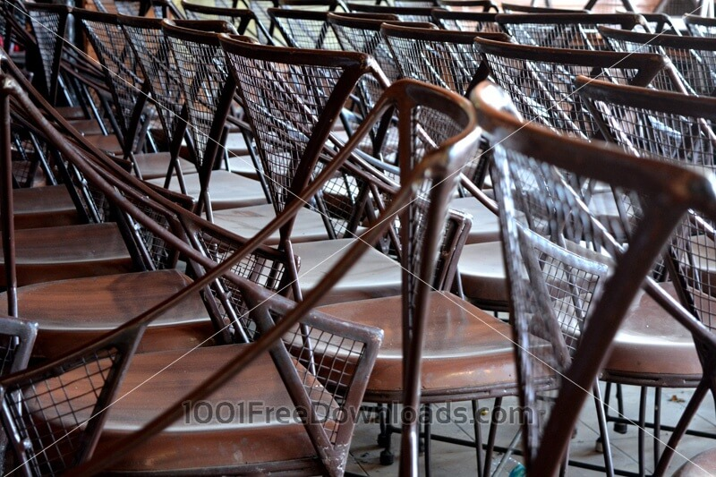Free Photos: Stack of Chairs | Objects