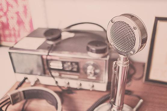 Free Vintage radio microphone