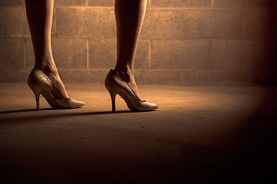 Free Woman legs in stylish shoes