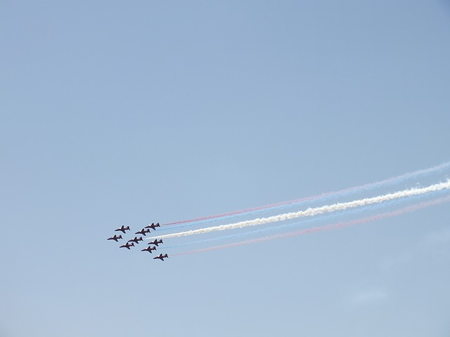 Free red arrows planes air show airplane